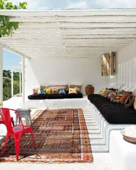 Traditional patio - fabrics that give all the style