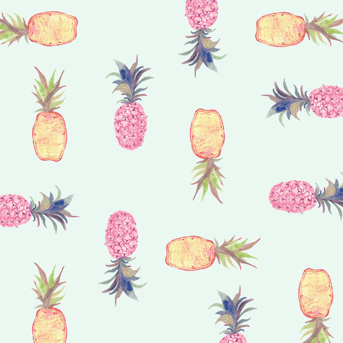 Pineapple pattern background - photo#11