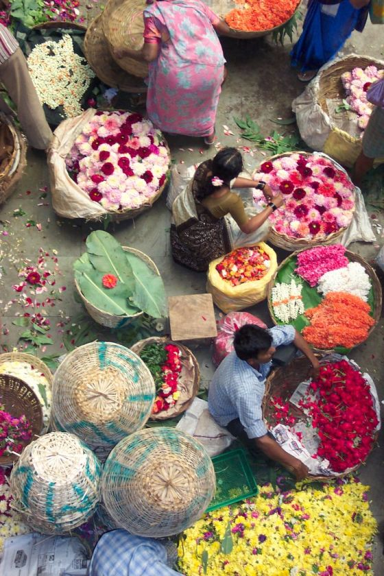bangalore flower market, India