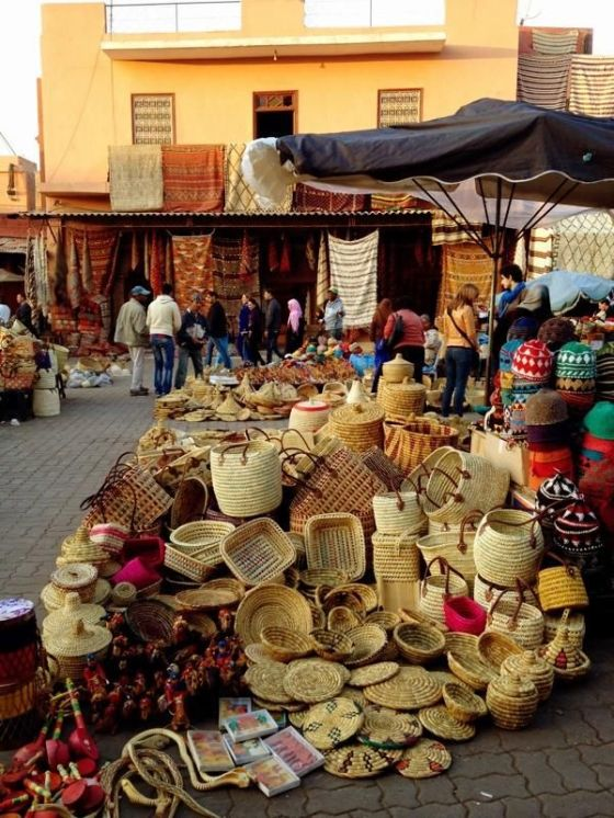 Basket market, Marrakesh, Morocco