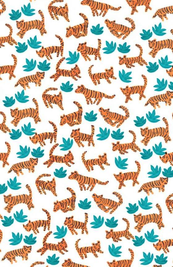 Dancing tigers by Elena Mir