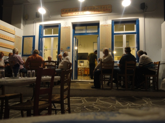Kafeneio at night! We also ate amazing food there..yum!