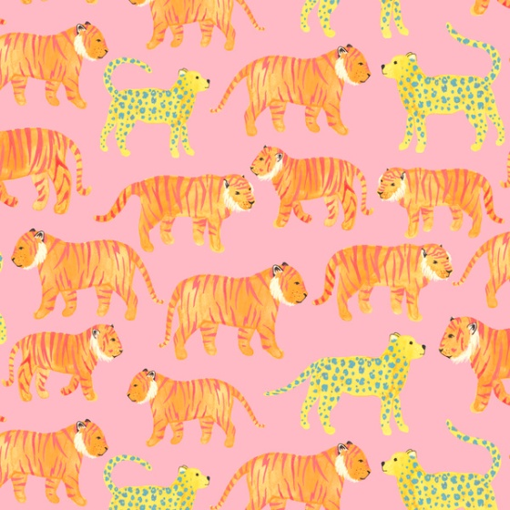 Pink tigers by society6