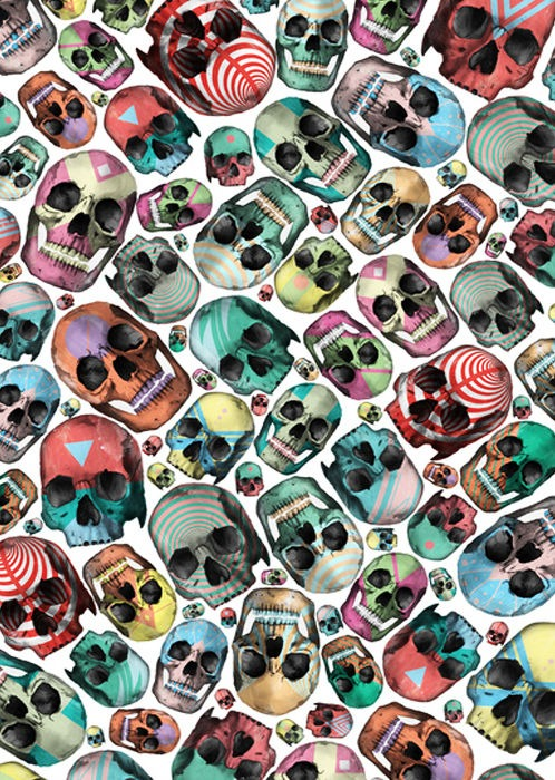 skull patterns_my blue flamingo