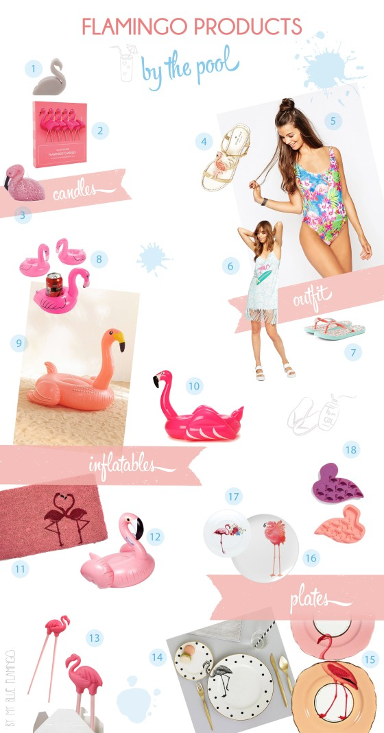 flamingo products by the pool_mbf