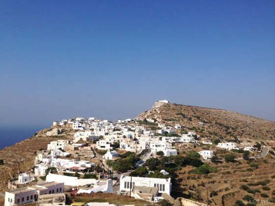 Kastro of Sikinos, seen from Chorio