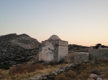 Episkopi temple from the back. This is what you see as approaching.