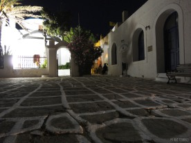night shot outside the church