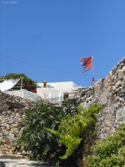 """flag with Che in """"Kastro"""" village!!!"""