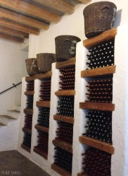 The cellar of the wine factory