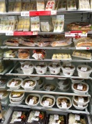 Mini market's selves with food choices