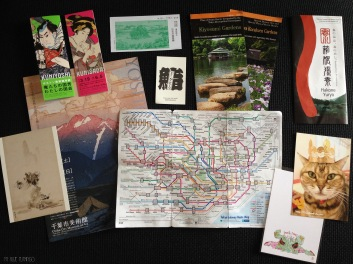 Some of my souvenirs back home. Metro lines map was always on my pocket.