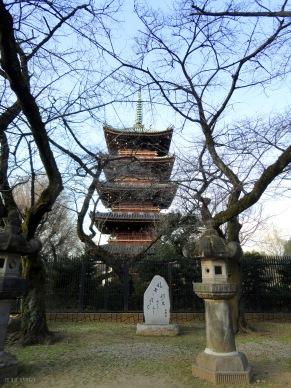 Pagode at Ueno park