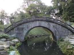Full Moon Bridge: named by its reflection on water surface that looked like a full moon!