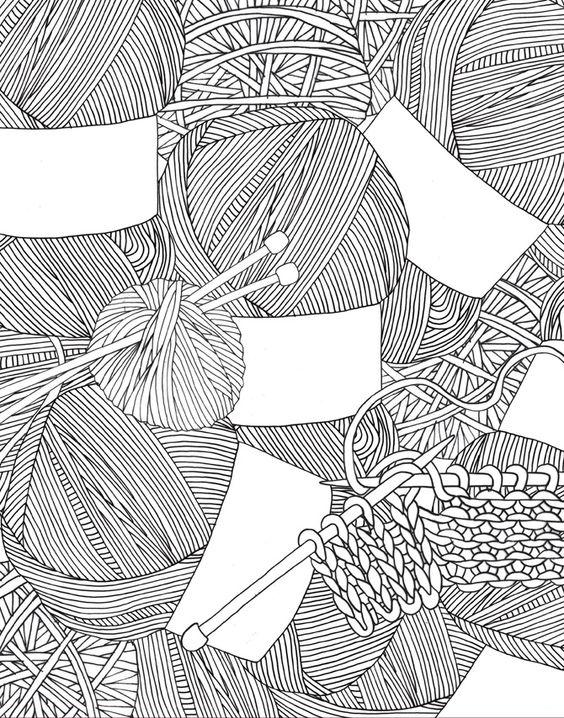 Drawing Knitting Pattern : Fall patterns again my blue flamingo