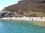 St.Nicolas beach with bathers
