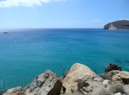 Fira beach - the sea around