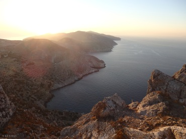 Sunset view from Panagia, Folegandros