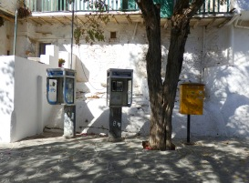 """Communication"" At the main square of Chora"