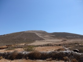 The general landscape of Folegandros