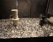 Amazing terrazzo table at Baxter