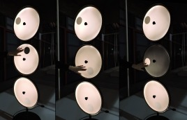 Interactive lighting system, I don't remember the company. Moving your hand in each circle you could change the brightness, cool, right?