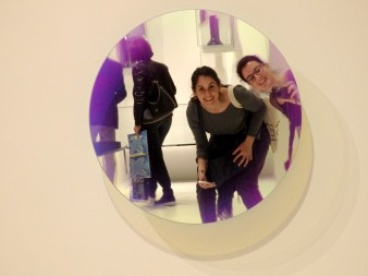 Posing at GlasItalia mirrors