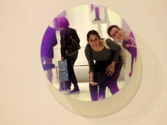 Posing at GlasItalia mirrors