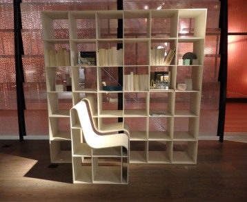 Library with chair at Alias