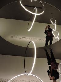 inception at Michael Anastassiades installation at Flos. Next post ;)