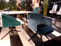 Quinti chairs. I loved the fabrics!