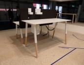 Fantoni's working station. Set your prefered high of your desk