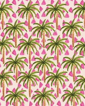 Pink palm trees