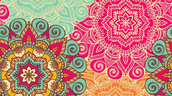 Indian patterns | my blue flamingo