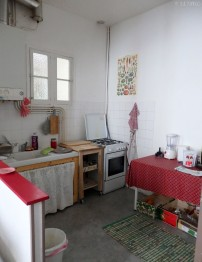 sister's kitchen. How cute is it!? At the same atmosphere was the whole house