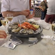 fresh oysters and shrimps_before