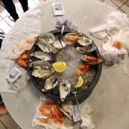 fresh oysters and shrimps_after